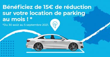 10 euros de réduction sur les locations de parkings onepark