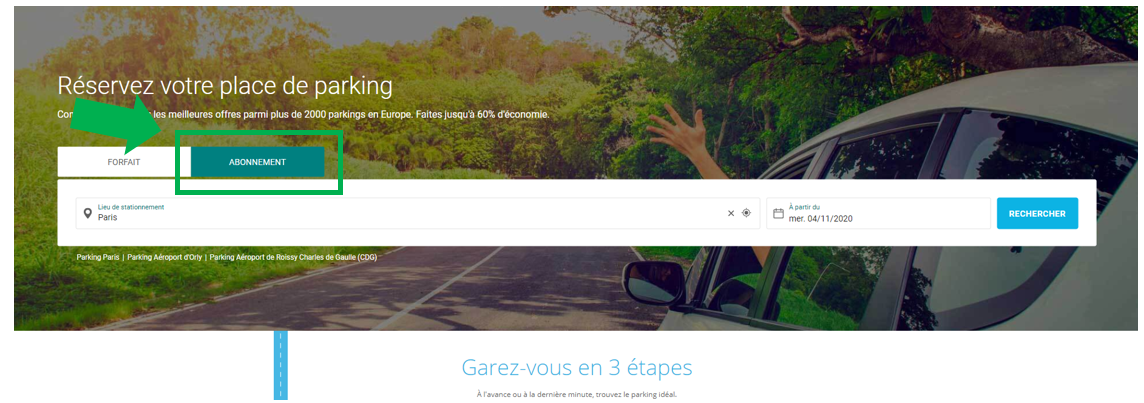 Abonnement parking onepark